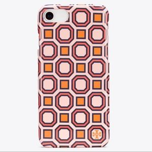 NWT Tory Burch Geo Hardshell Case iPhone 7/8 NEW